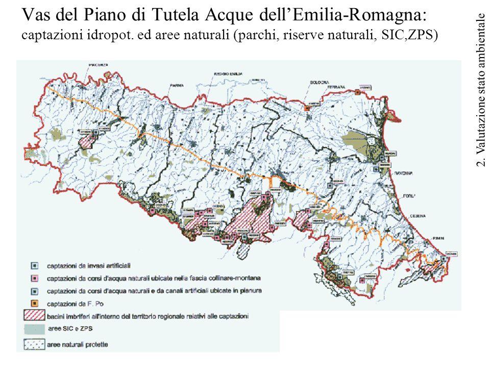46 Vas del Piano di Tutela Acque dell'Emilia-Romagna: captazioni idropot.