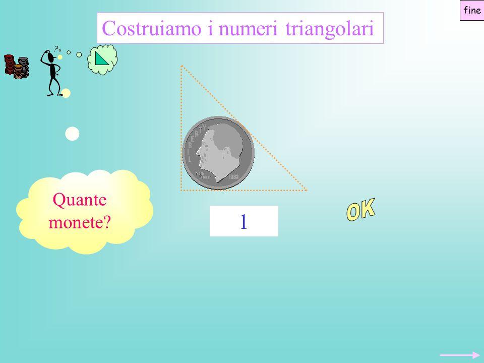 Quante monete? Costruiamo i numeri triangolari 1 fine