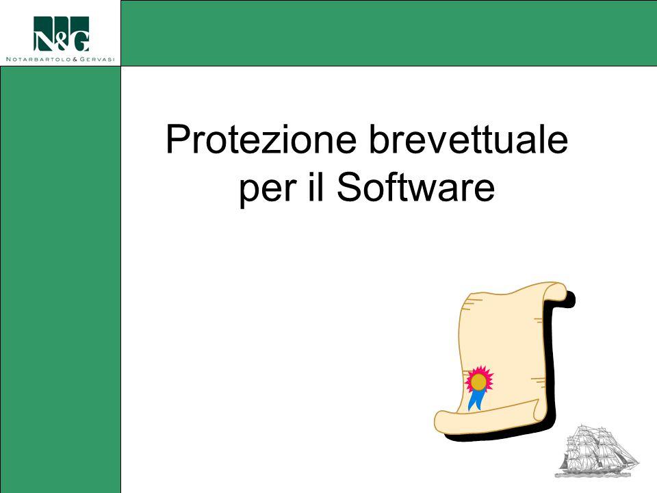 Protezione brevettuale per il Software