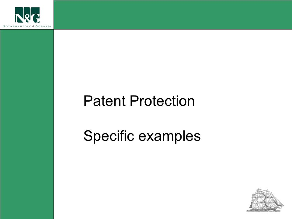 Patent Protection Specific examples