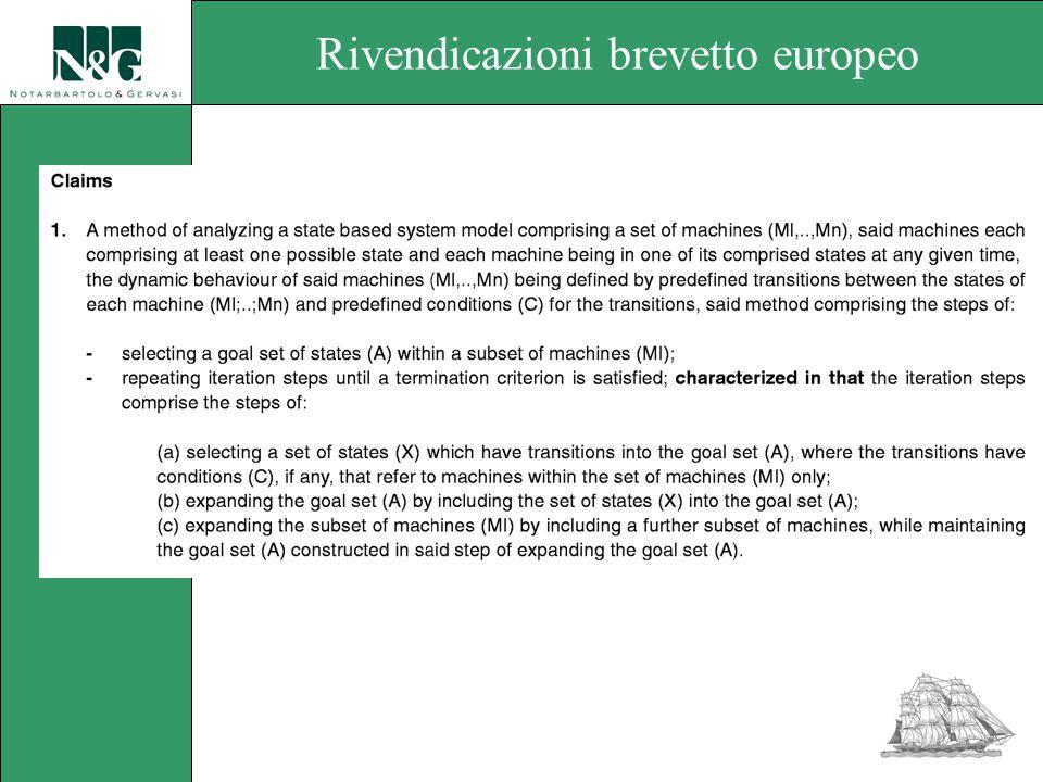 Rivendicazioni brevetto europeo
