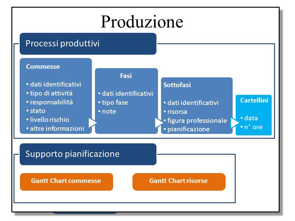 Obiettivo Progettazione e realizzazione di un applicazione gestionale: Processi produttivi Supporto pianificazione Produzione Offerte Fatturazioni Amm
