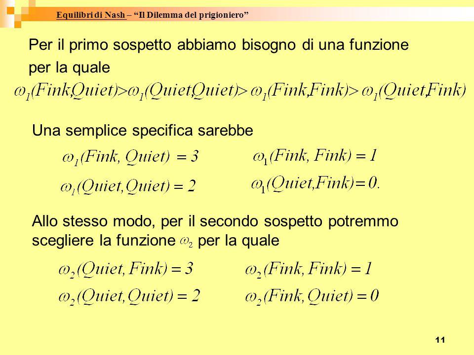 11 Per il primo sospetto abbiamo bisogno di una funzione per la quale Una semplice specifica sarebbe Allo stesso modo, per il secondo sospetto potremmo scegliere la funzione per la quale.