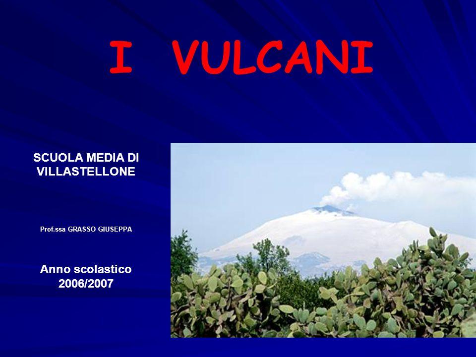 I VULCANI SCUOLA MEDIA DI VILLASTELLONE Prof.ssa GRASSO GIUSEPPA Anno scolastico 2006/2007