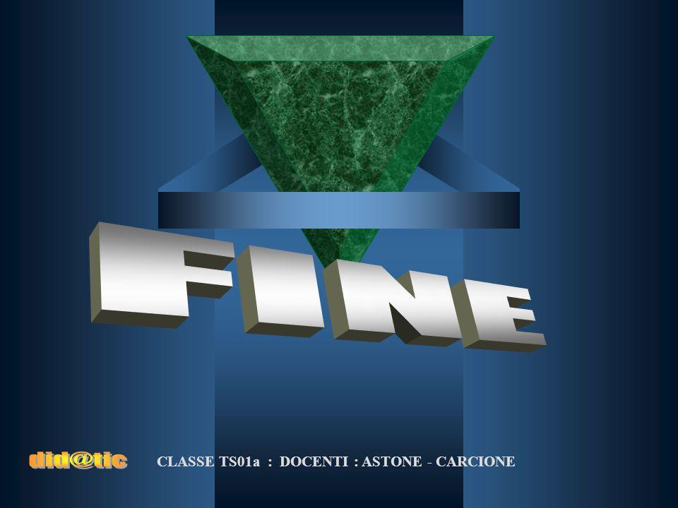 CLASSE TS01a : DOCENTI : ASTONE - CARCIONE