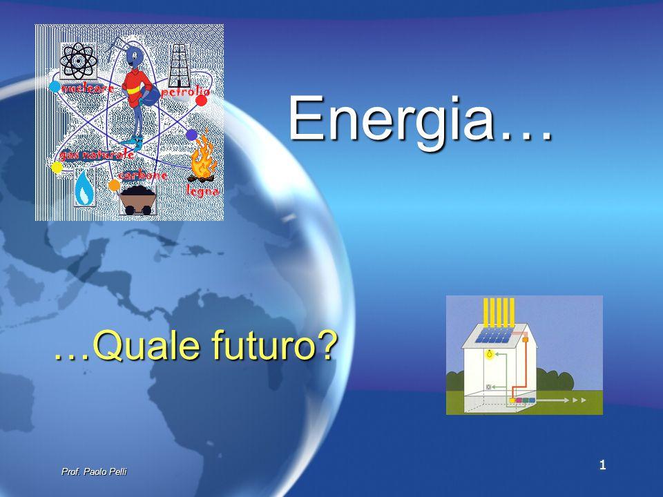 1 …Quale futuro? Energia… Prof. Paolo Pelli