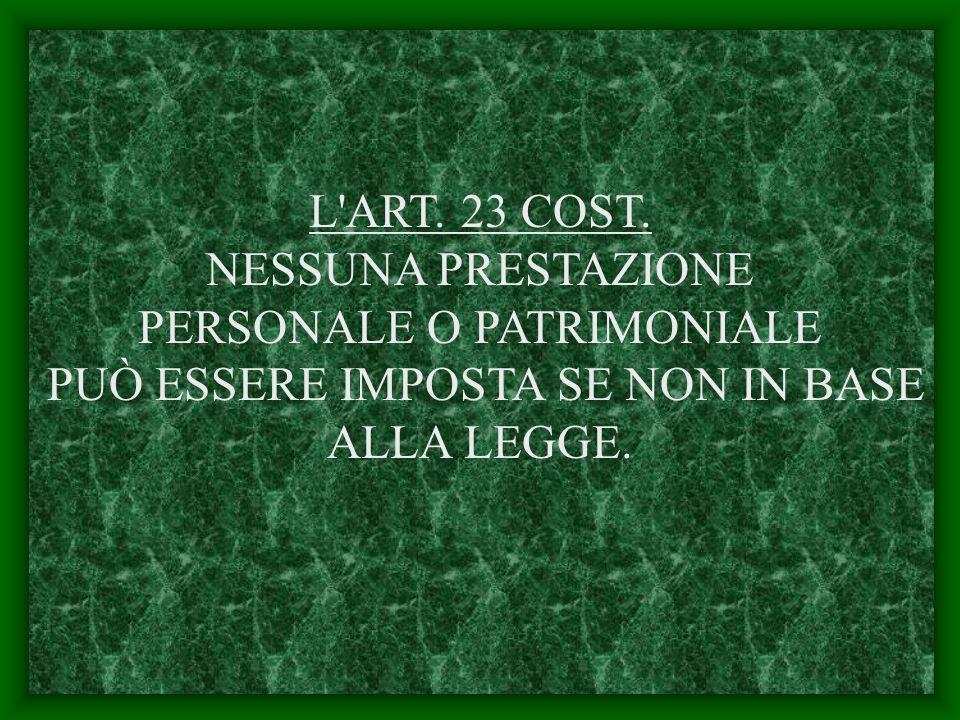 L ART. 23 COST.