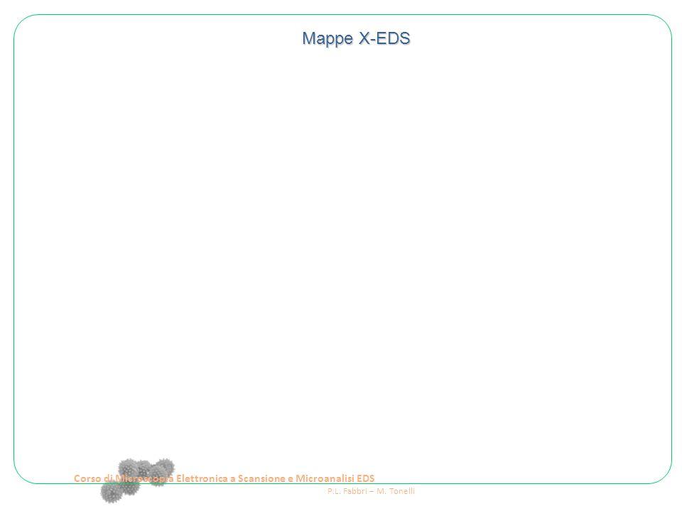 Corso di Microscopia Elettronica a Scansione e Microanalisi EDS P.L. Fabbri – M. Tonelli Mappe X-EDS