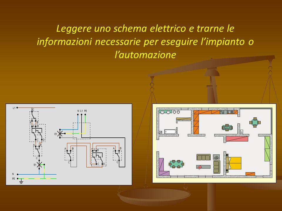 Leggere uno schema elettrico e trarne le informazioni necessarie per eseguire l'impianto o l'automazione