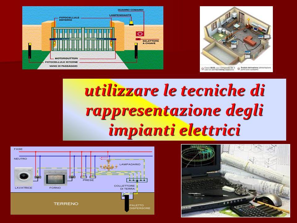 utilizzare le tecniche di rappresentazione degli impianti elettrici