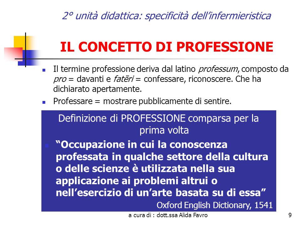 a cura di : dott.ssa Alida Favro30 2° unità didattica: specificità dell'infermieristica LEGGE 26 febbraio 1999, n.