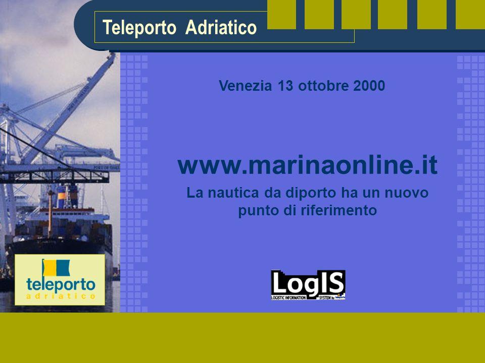 Teleporto Adriatico www.marinaonline.it La nautica da diporto ha un nuovo punto di riferimento Venezia 13 ottobre 2000