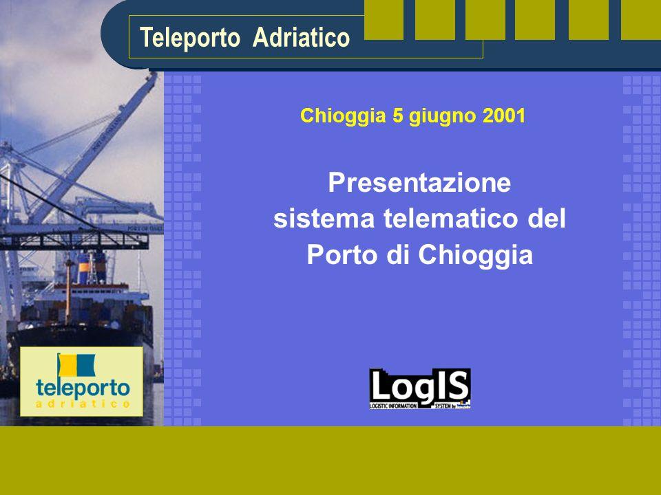 Teleporto Adriatico Presentazione sistema telematico del Porto di Chioggia Chioggia 5 giugno 2001