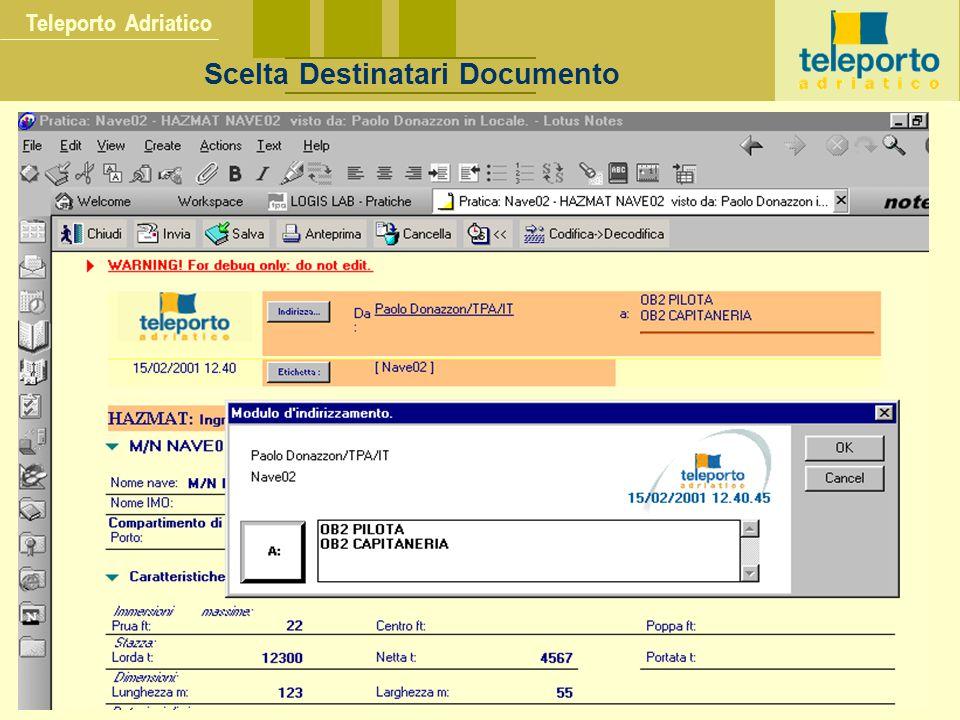 Teleporto Adriatico Scelta Destinatari Documento