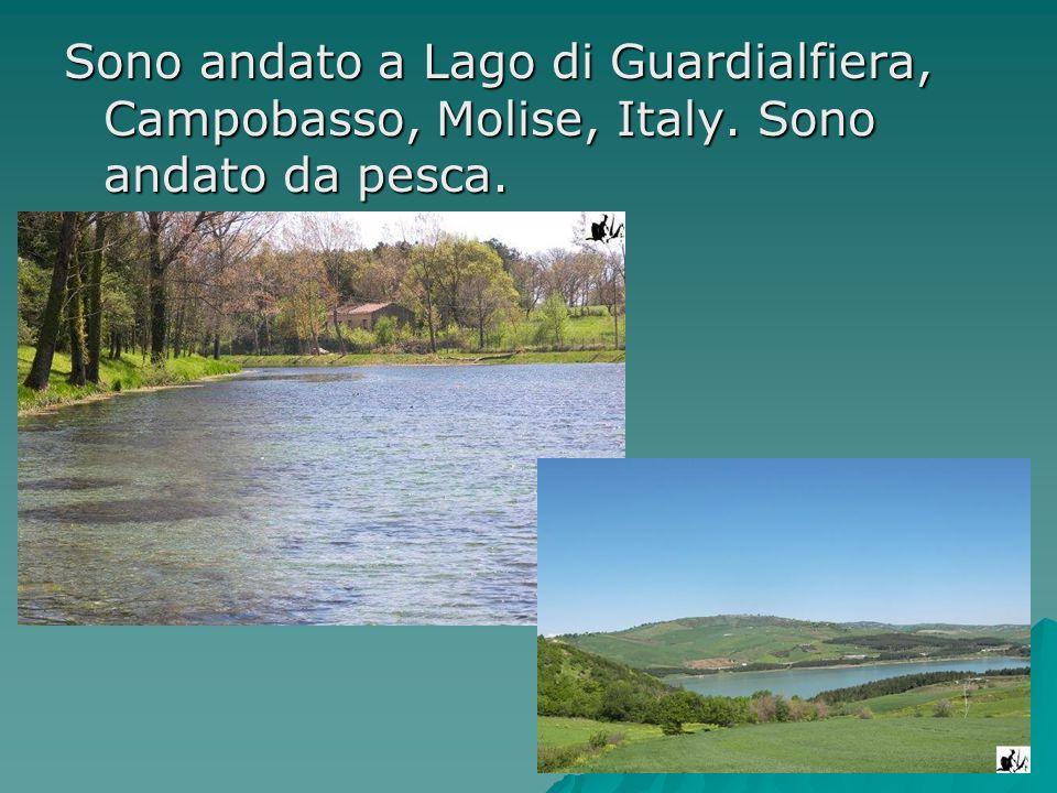 Sono andato a Lago di Guardialfiera, Campobasso, Molise, Italy. Sono andato da pesca.