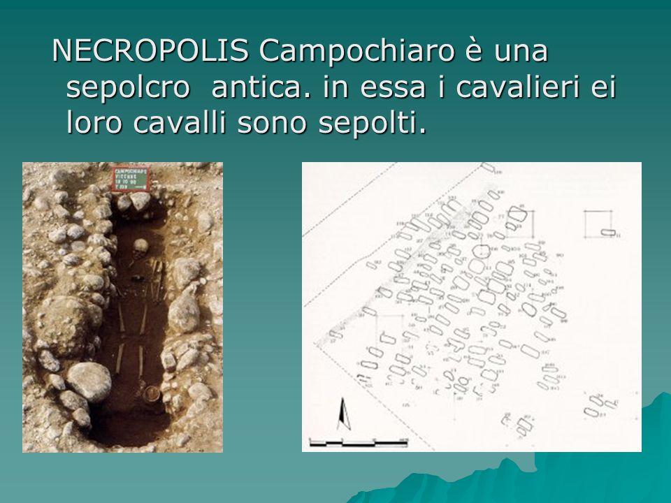 NECROPOLIS Campochiaro è una sepolcro antica.in essa i cavalieri ei loro cavalli sono sepolti.