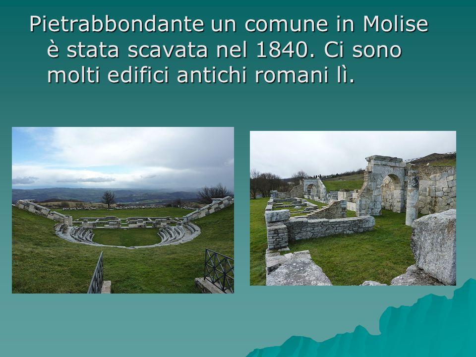 Pietrabbondante un comune in Molise è stata scavata nel 1840. Ci sono molti edifici antichi romani lì.