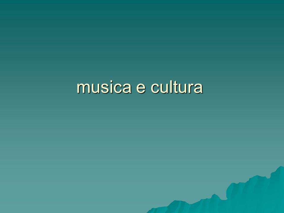 musica e cultura