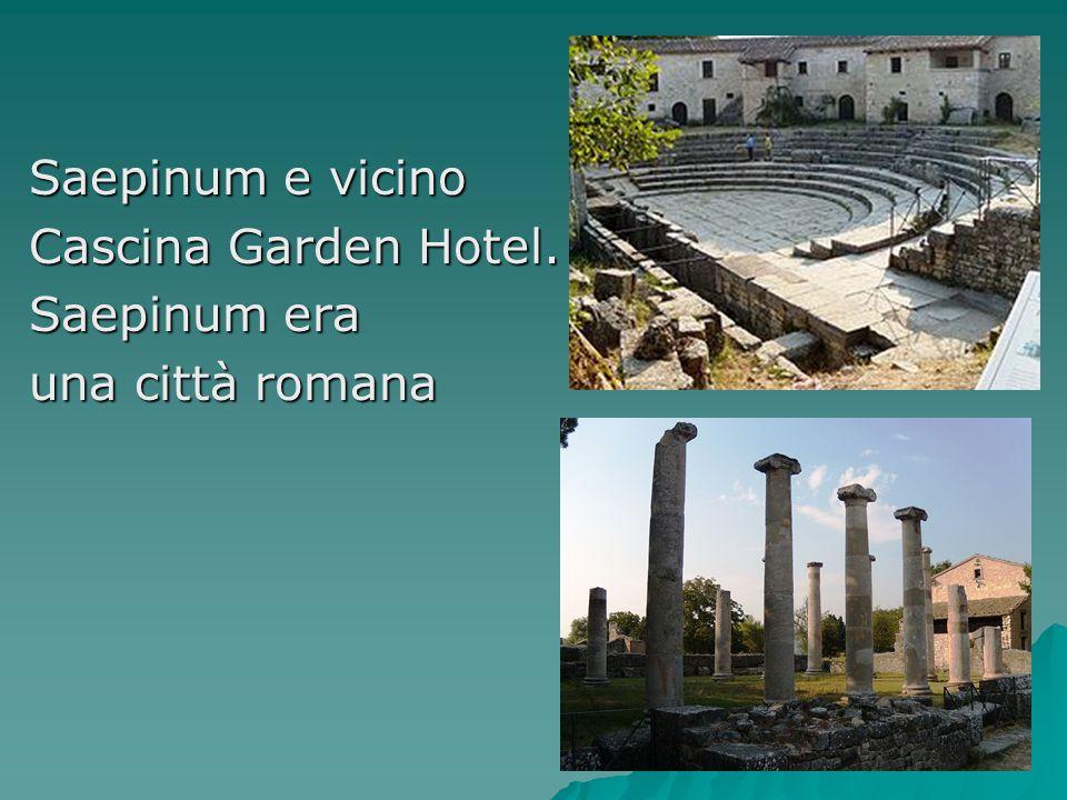 Saepinum e vicino Cascina Garden Hotel. Saepinum era una città romana