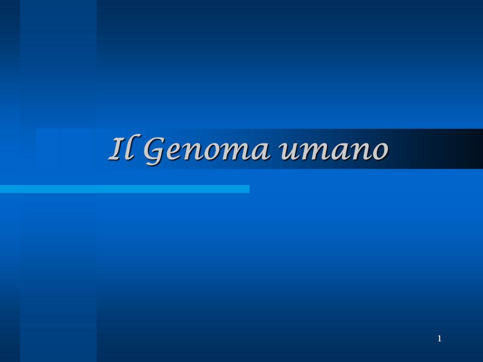 1 Il Genoma umano