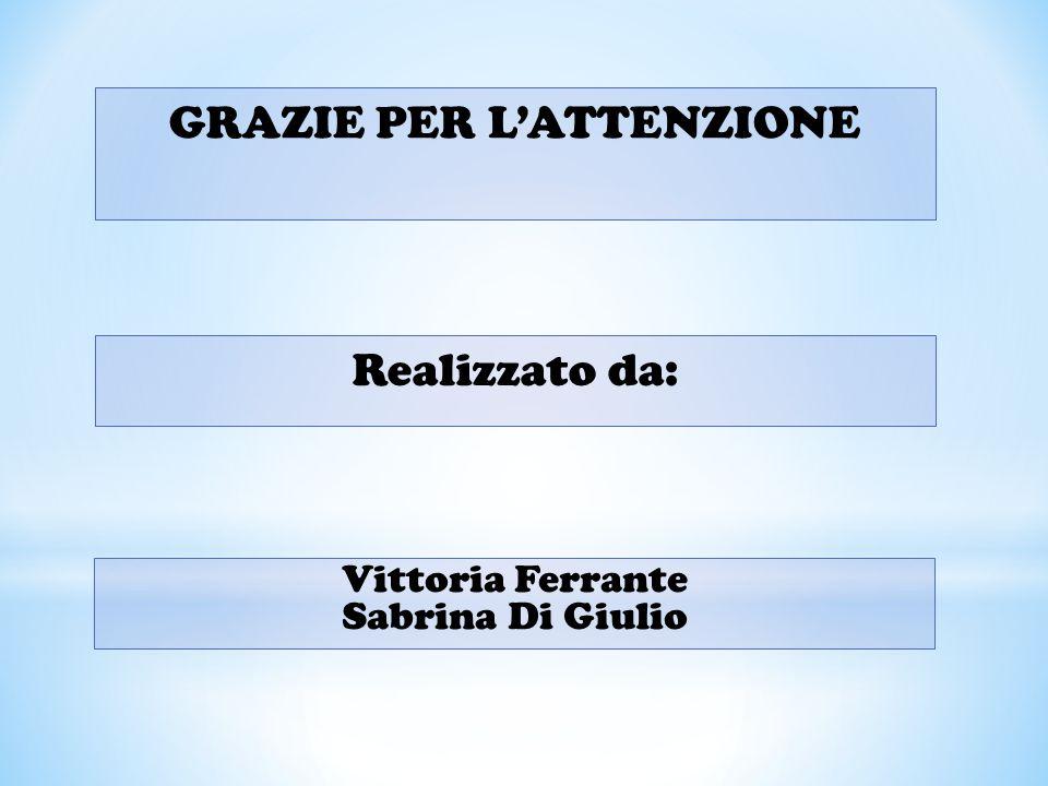 GRAZIE PER L'ATTENZIONE Realizzato da: Vittoria Ferrante Sabrina Di Giulio