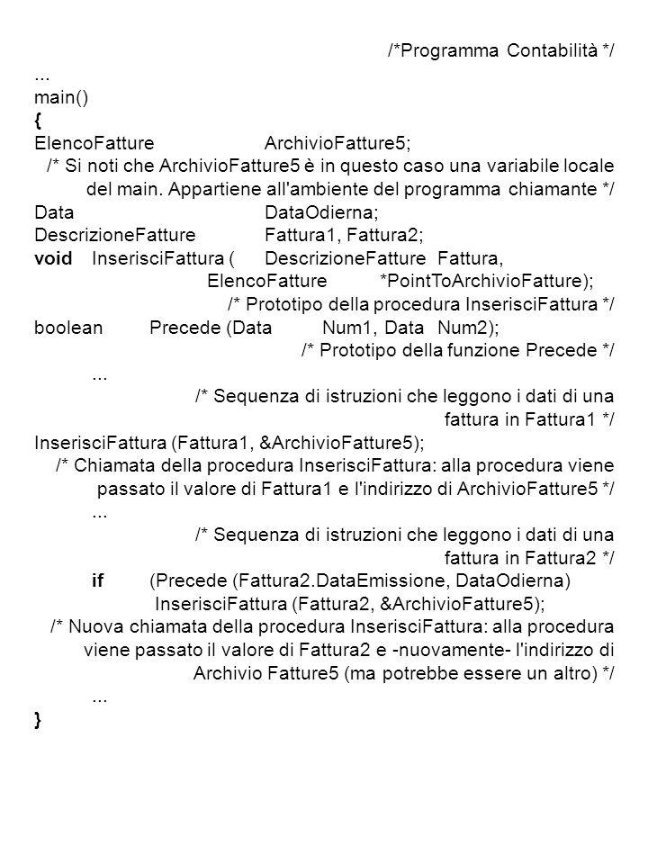 /*Programma Contabilità */...