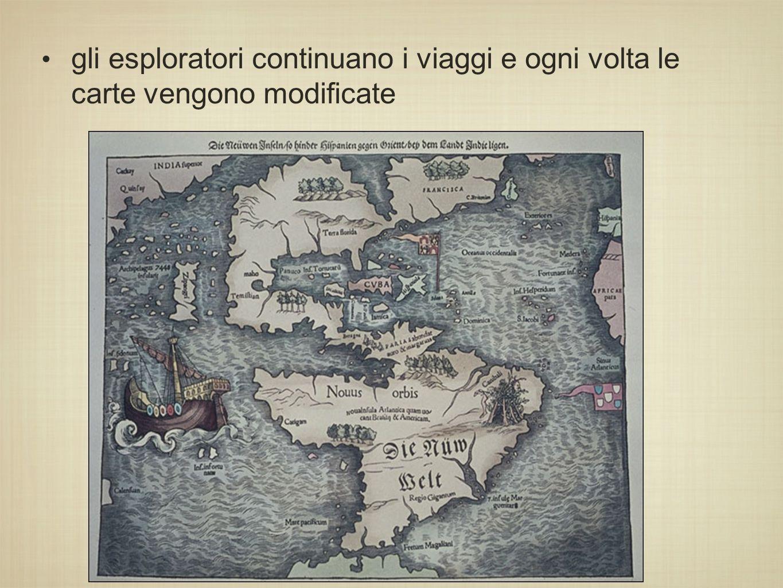 gli esploratori continuano i viaggi e ogni volta le carte vengono modificate