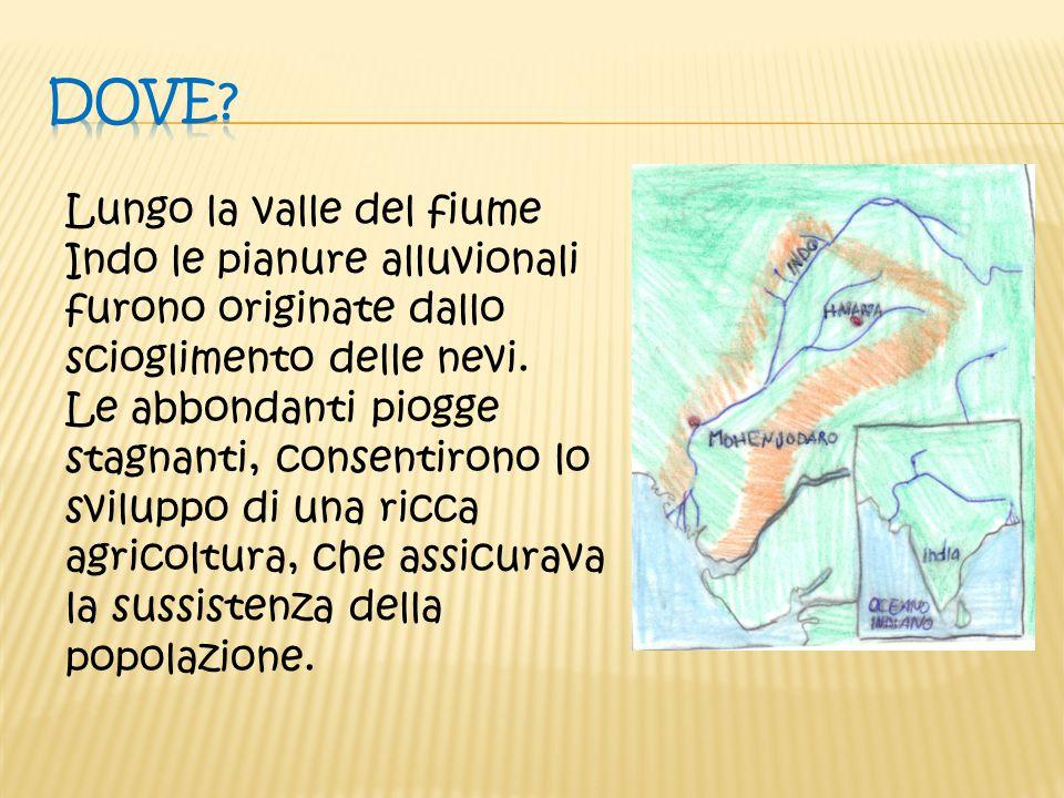 Lungo la valle del fiume Indo le pianure alluvionali furono originate dallo scioglimento delle nevi. Le abbondanti piogge stagnanti, consentirono lo s
