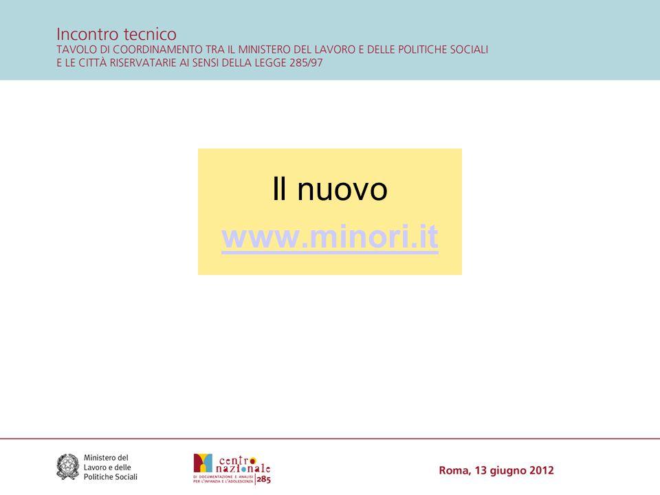 Il nuovo www.minori.it www.minori.it