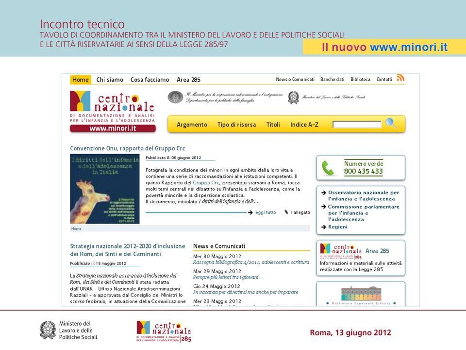 Il nuovo www.minori.it