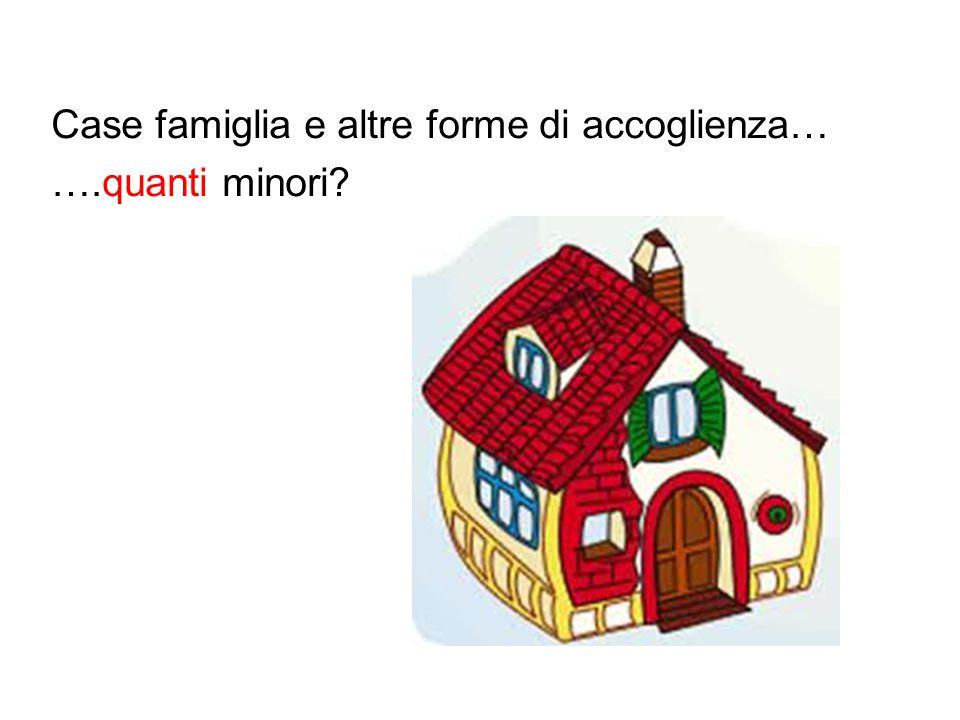 Case famiglia e altre forme di accoglienza… ….quanti minori