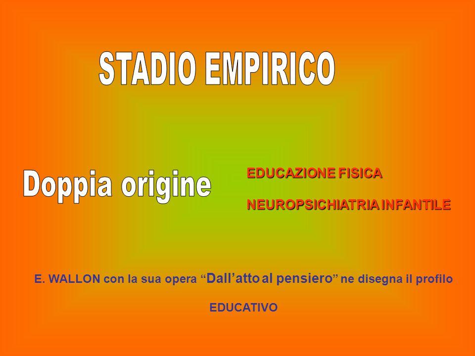 """EDUCAZIONE FISICA NEUROPSICHIATRIA INFANTILE E. WALLON con la sua opera """" Dall'atto al pensiero """" ne disegna il profilo EDUCATIVO"""