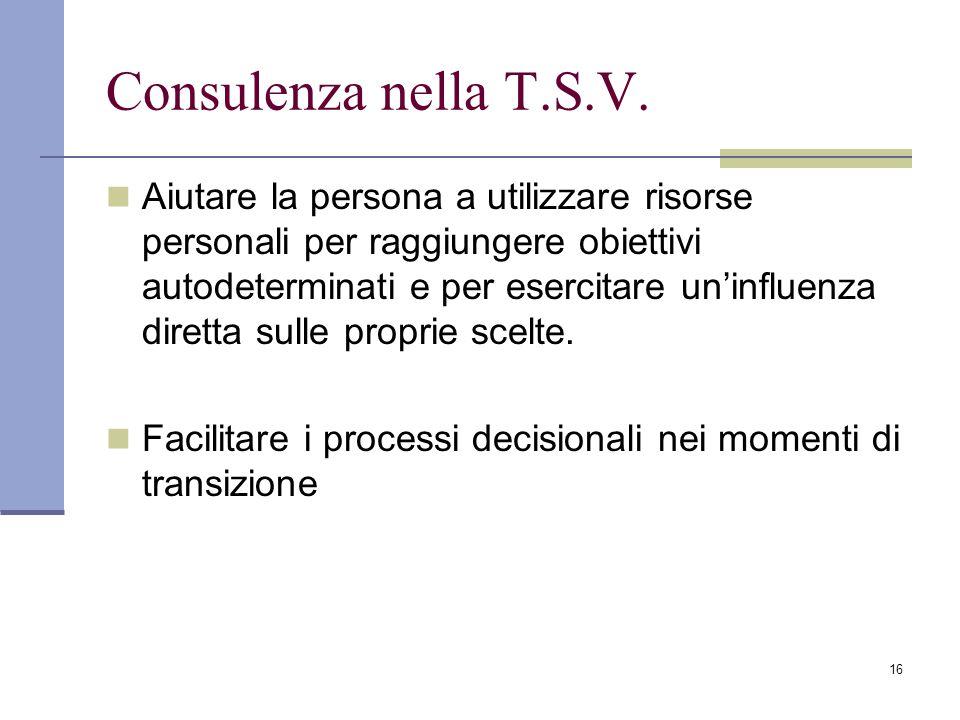 16 Consulenza nella T.S.V.