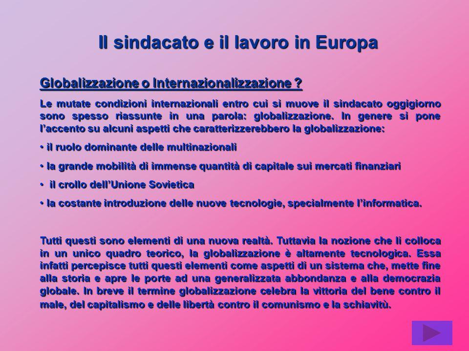 Globalizzazione o Internazionalizzazione .