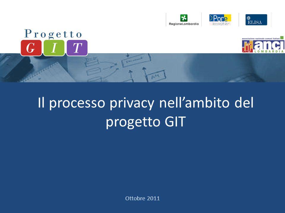 Il processo privacy nell'ambito del progetto GIT Ottobre 2011