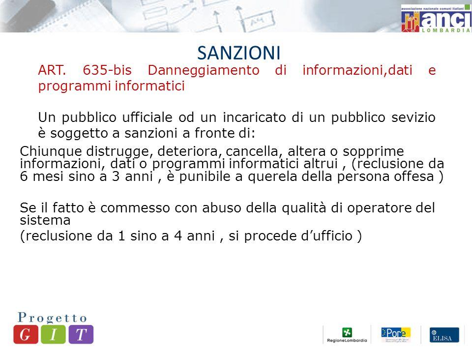 SANZIONI ART.