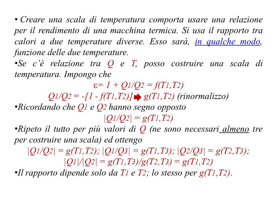 Ho assunto che  B >  A ; allora -W A /Q 2A  -W B /Q 2B Uso il modulo, perché comparo assorbimento e cessione di calore (quindi segni opposti).