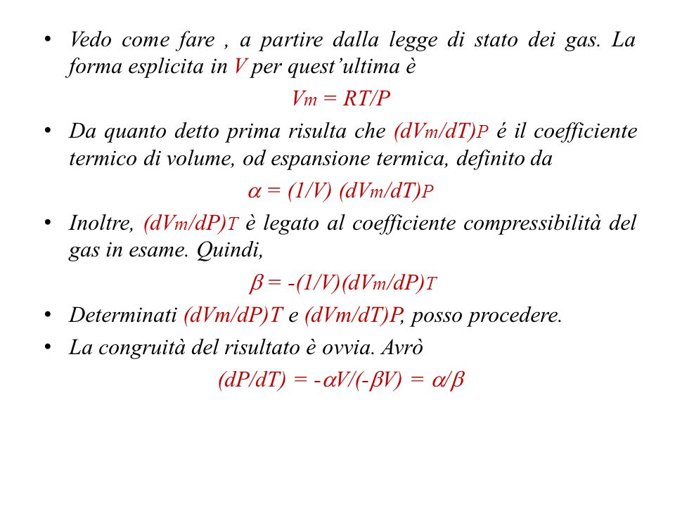 Le formule di conversione.