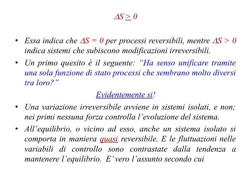 Alcune considerazioni Il concetto di equilibrio è di origine meccanica e tratta il bilancio delle forze attive sul sistema.