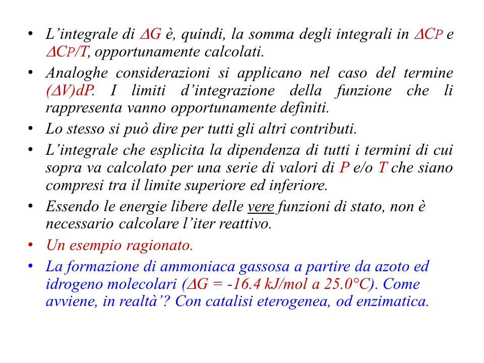 Questo comporta definire la dipendenza del  f G° m da variabili come T e P.