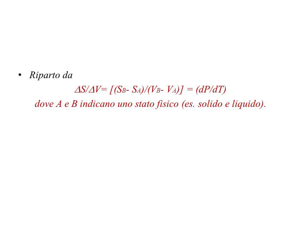 G A + dG A = G B + dG B dG A = dG B Allora.Un esempio è l'equazione di Clapeyron.