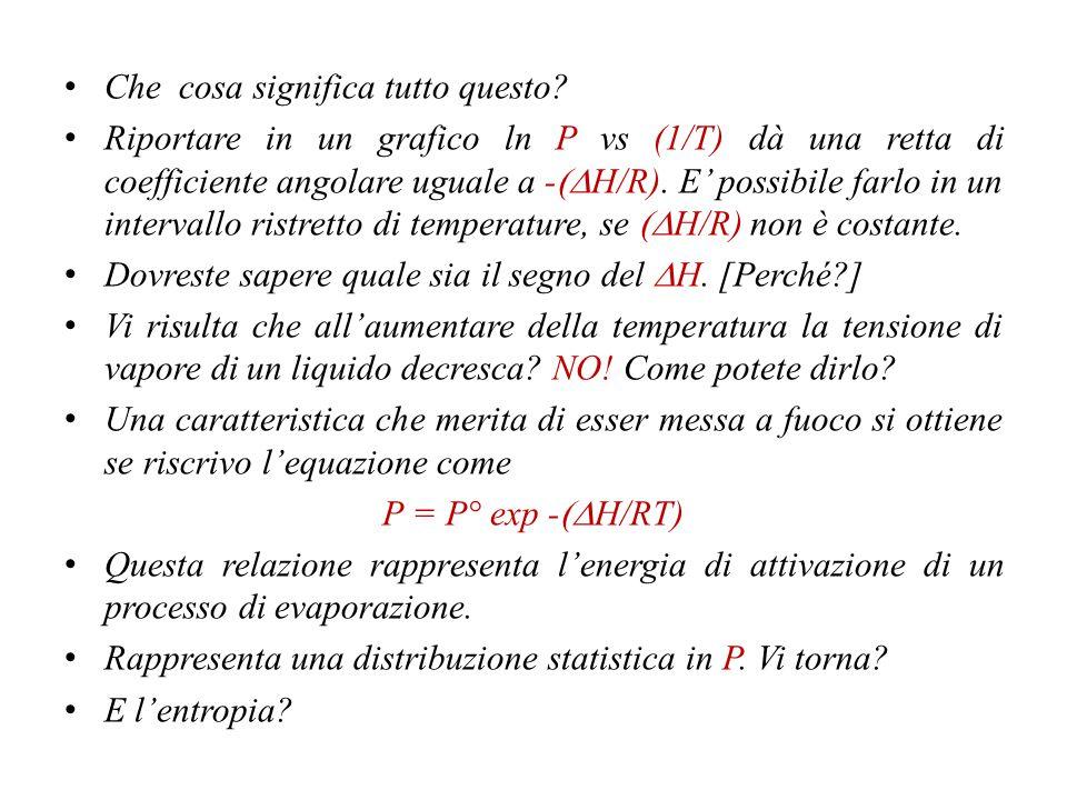  G =  H - T  S  S =  H/T La combinazione porta a (dP/dT) =  S/  V =  H/T  V dT/T = dP  V/  H Od equazione di Clapeyron, che vale per tutte le transizioni.