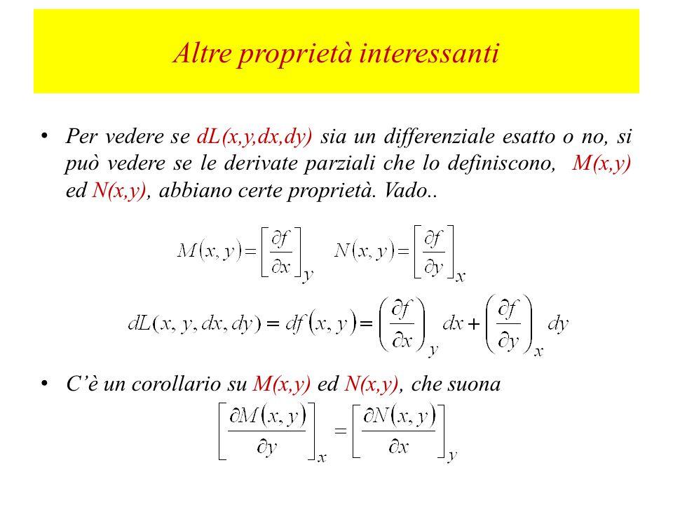 In linguaggio matematico, il differenziale esatto sarà funzione delle sole coordinate, ed indipendente dal cammino percorso.