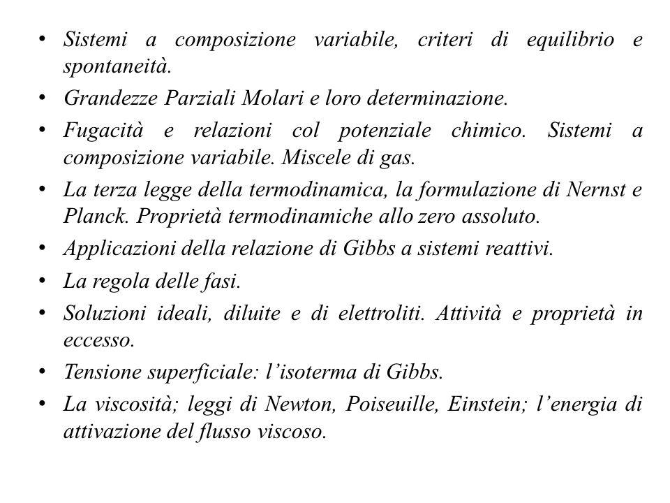 I differenziali totali Come si sviluppa il differenziale totale delle relazioni che ho introdotto.