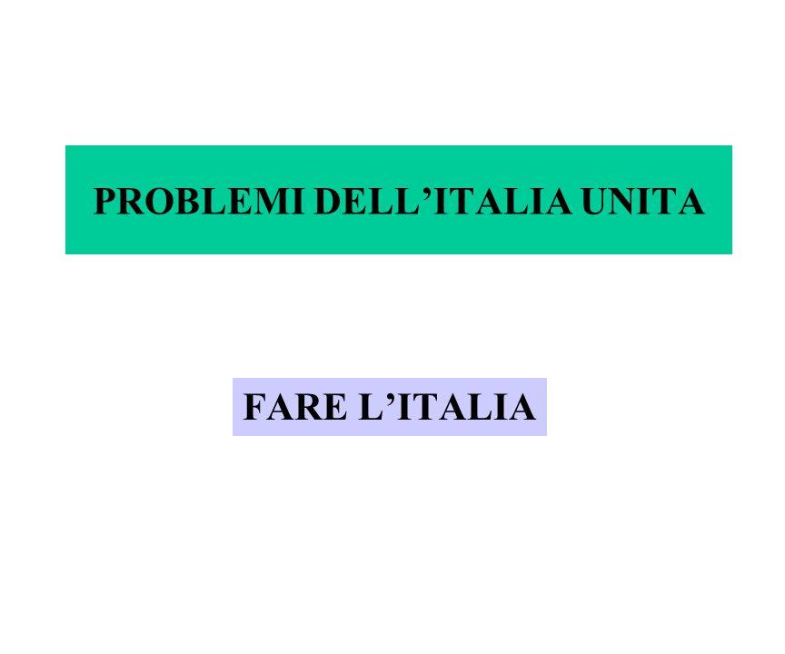 PROBLEMI DELL'ITALIA UNITA FARE L'ITALIA