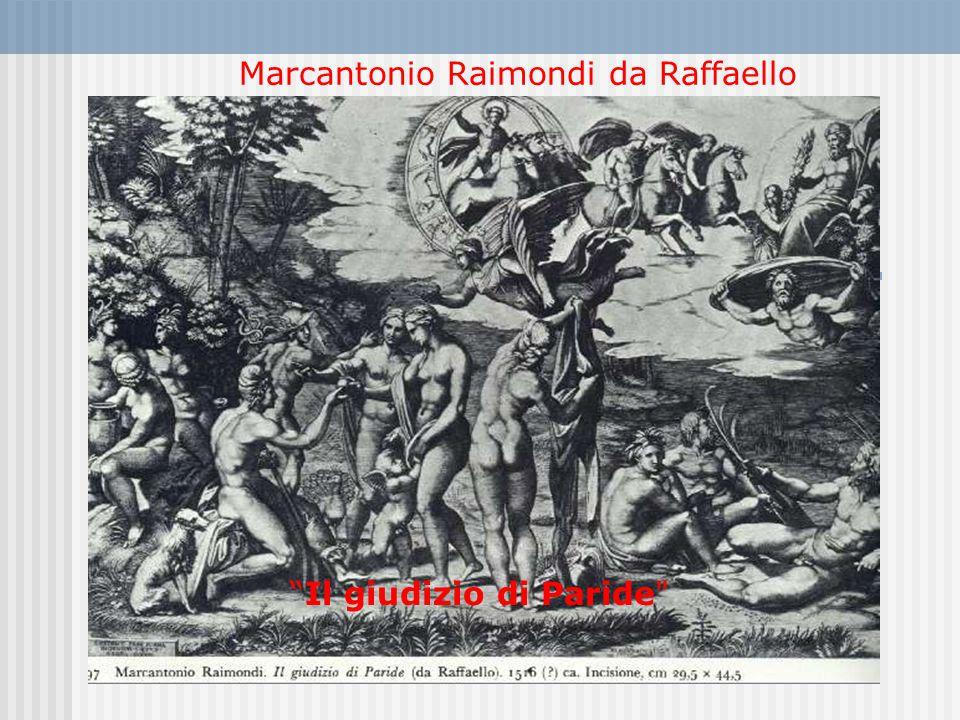 Marcantonio Raimondi da Raffaello Il giudizio di Paride