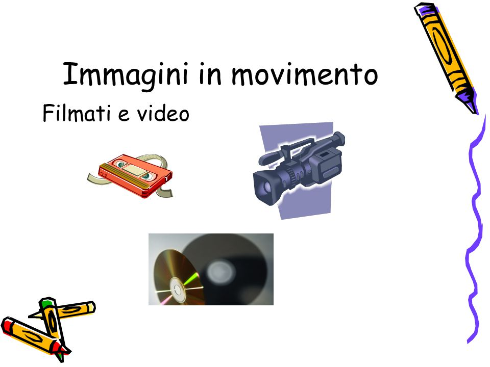 Immagini in movimento Filmati e video