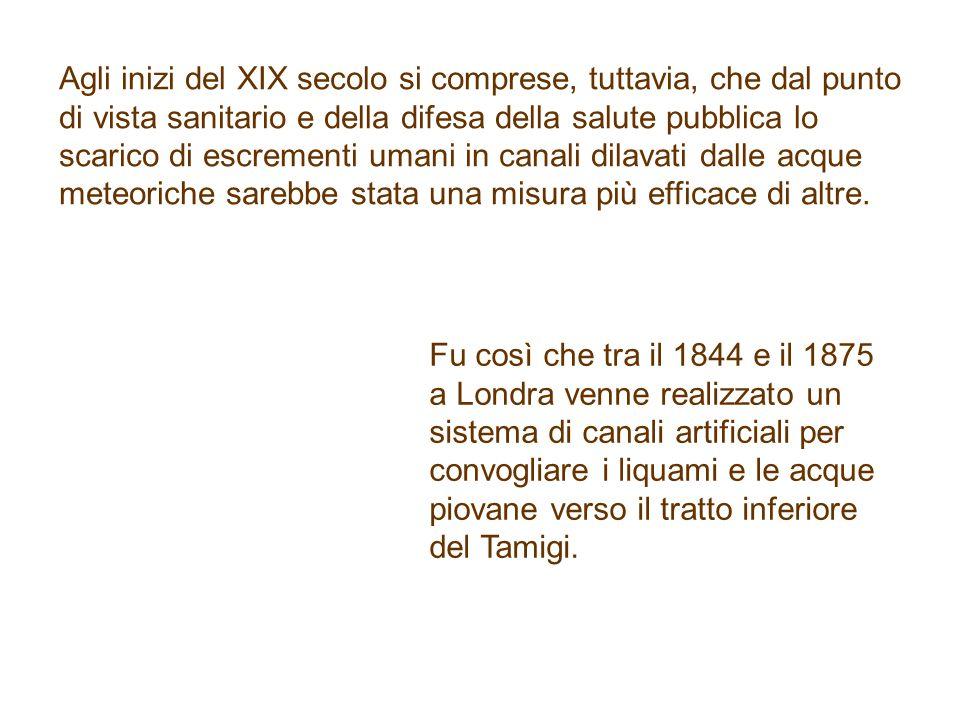 A Milano, nel 1868, venne presentato un progetto che affrontava nella sua globalità la sistemazione delle fognature della zona del centro storico.