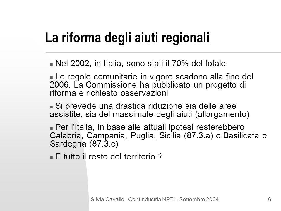 Silvia Cavallo - Confindustria NPTI - Settembre 20047 E il resto del territorio .