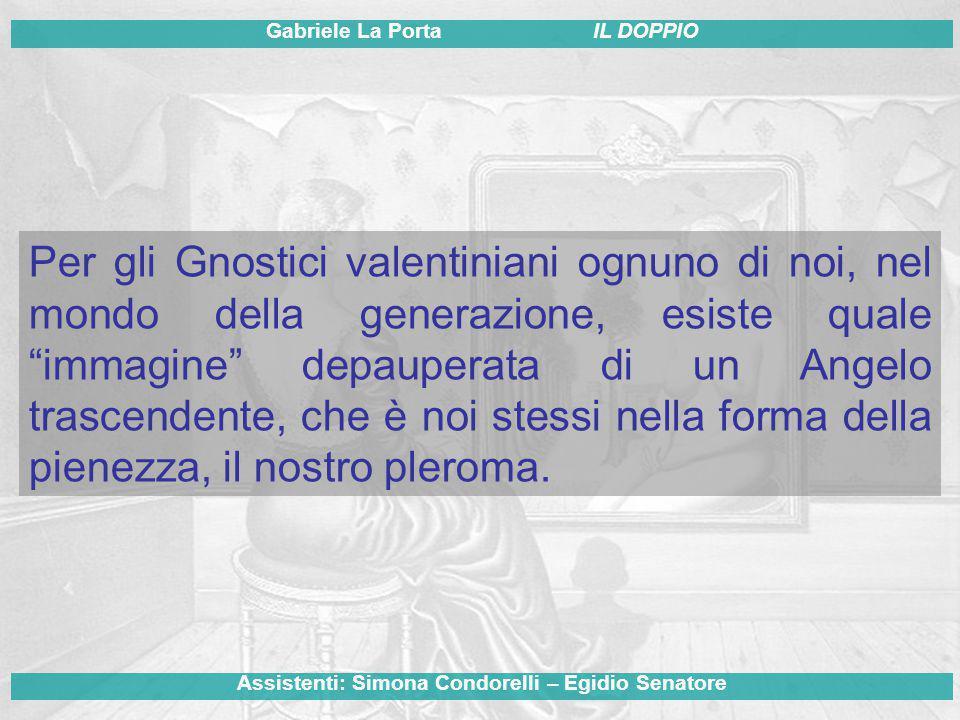 Per gli Gnostici valentiniani ognuno di noi, nel mondo della generazione, esiste quale immagine depauperata di un Angelo trascendente, che è noi stessi nella forma della pienezza, il nostro pleroma.